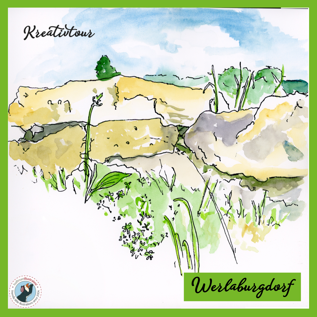 This is a watercolor sketch - landscape painting I created at Werlaburgdorf.