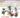 Illustration: Die Kornmäuse laden zum mitwimmeln ein. Die Kornmäuse haben sich in feinster barocker Kleidung gesteckt und tanzen vorm Schloss Ludwigsburg
